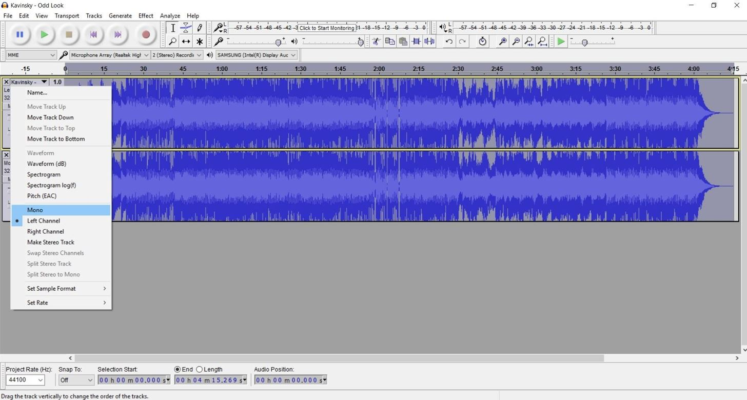 How to Remove Vocals from Songs Using Audacity