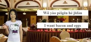 "Say ""good morning"" and other words at breakfast in Mandarin Chinese"
