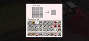 Craft an axe and a pickaxe in Minecraft