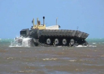 DARPA's New Amphibious CAAT Tank Boldly Goes Where Ships Can't Go (On Top of the Water)