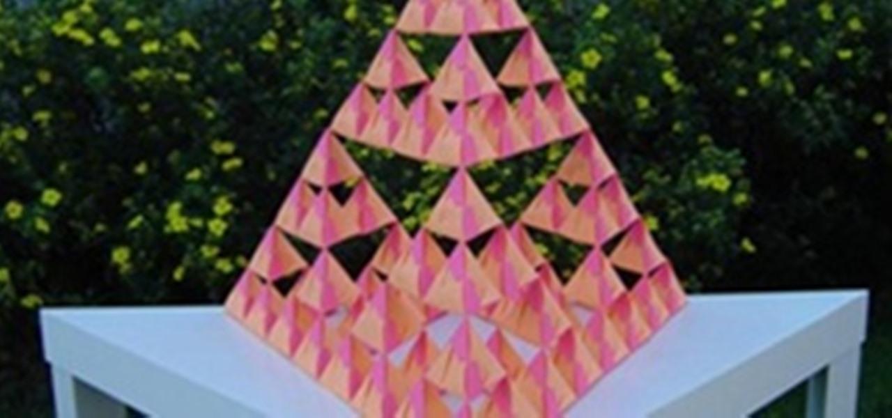 How to Fold a tetrahedron with modular origami  WonderHowTo