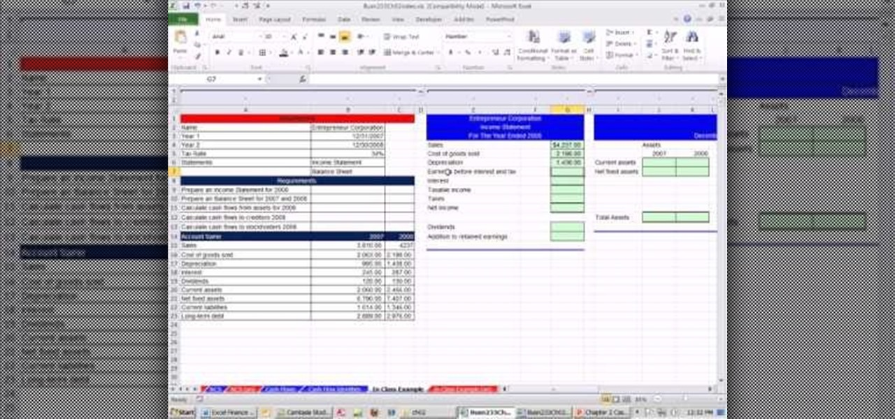 how to calculate cash flow from assets in microsoft excel
