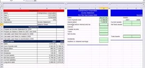 Calculate cash flow from assets in Microsoft Excel