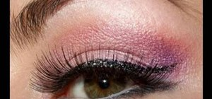Create a pink cat eye Playboy bunny makeup look