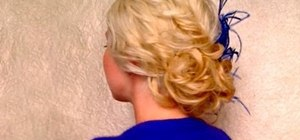 Create an elegant low side messy bun for beautiful bridesmaids