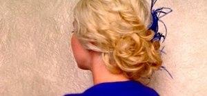 Create an elegant low side messy bun for beautiful bridesmaids