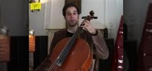 Position your left hand properly on the cello