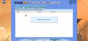 Recover deleted files with Easeus