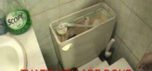Convert a regular toilet to a low flush