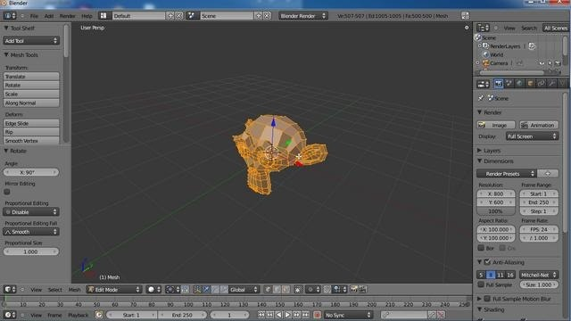 Create and apply a cartoon shader in Blender 2.5