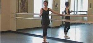 Do a plie ballet position