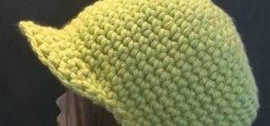 Make a chunky yarn crochet newsboy cap
