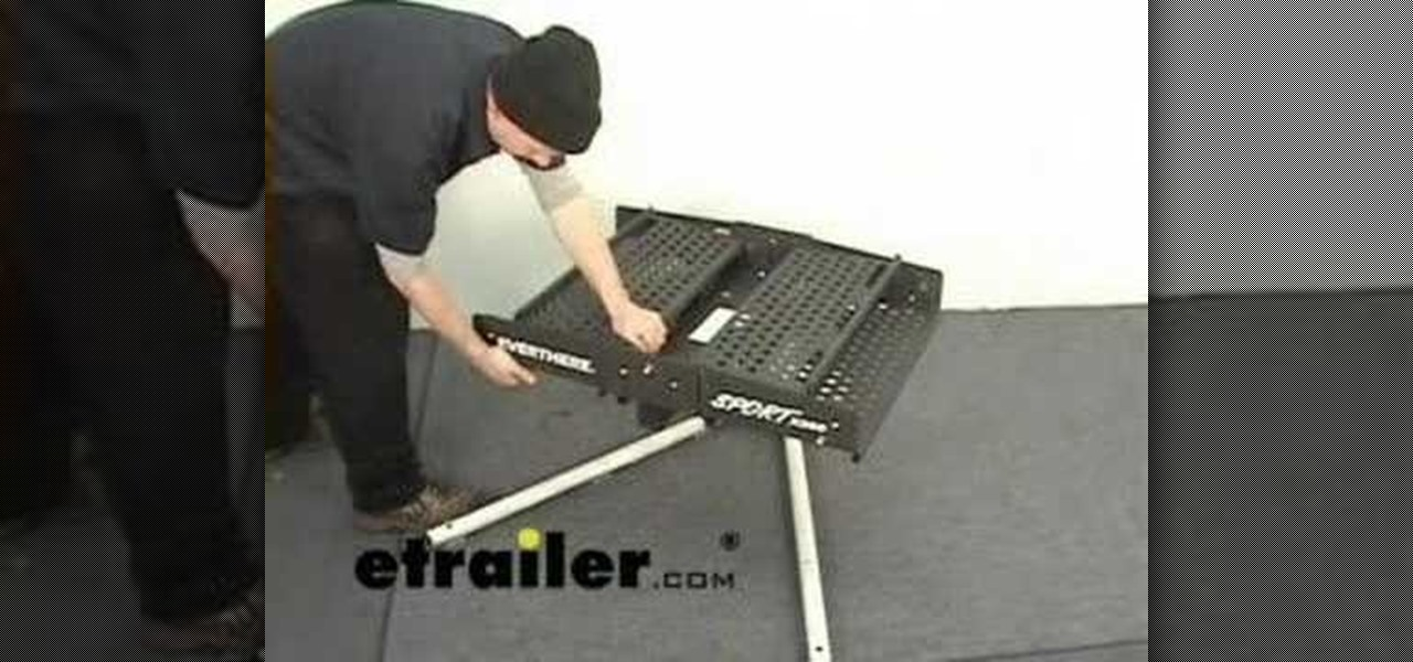 How To Use A Folding Trailer Hitch Mounted Cargo Carrier