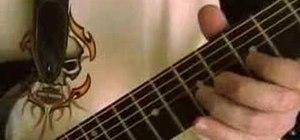 Do vibrato on an electric guitar