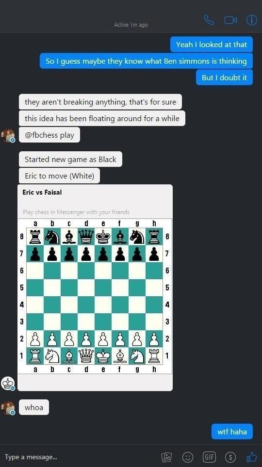 Bermain Game Catur Tersembunyi di dalam Facebook Chat