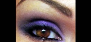 Create a smokey purple eye look with Kandee Johnson