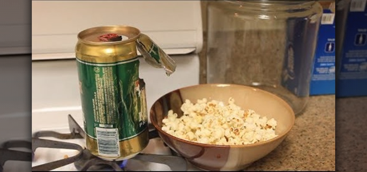 Turn an Empty Beer Can into an Easy DIY Popcorn Popper