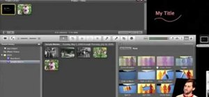 Create custom titles in iMovie 09