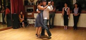 Perform the tango transition through the cross