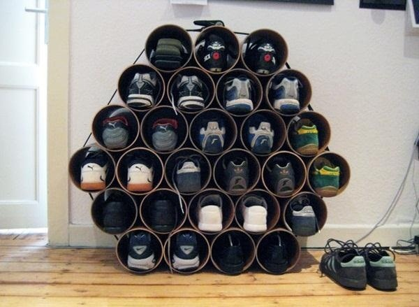 How to build a low cost shoe rack using pvc pipes macgyverisms so this simple yet cool diy shoe storage is actually something i could benefit from doing solutioingenieria Choice Image