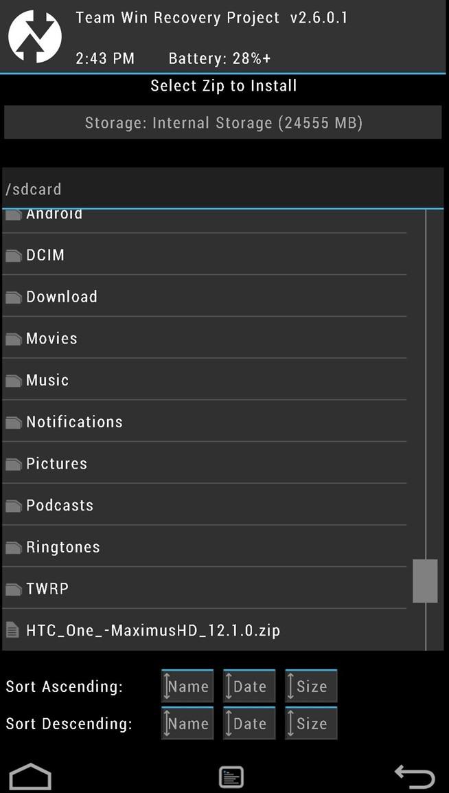 Hướng dẫn cài đặt bản cập nhật HTC rò rỉ với Sense & Android 4.3 trên HTC One