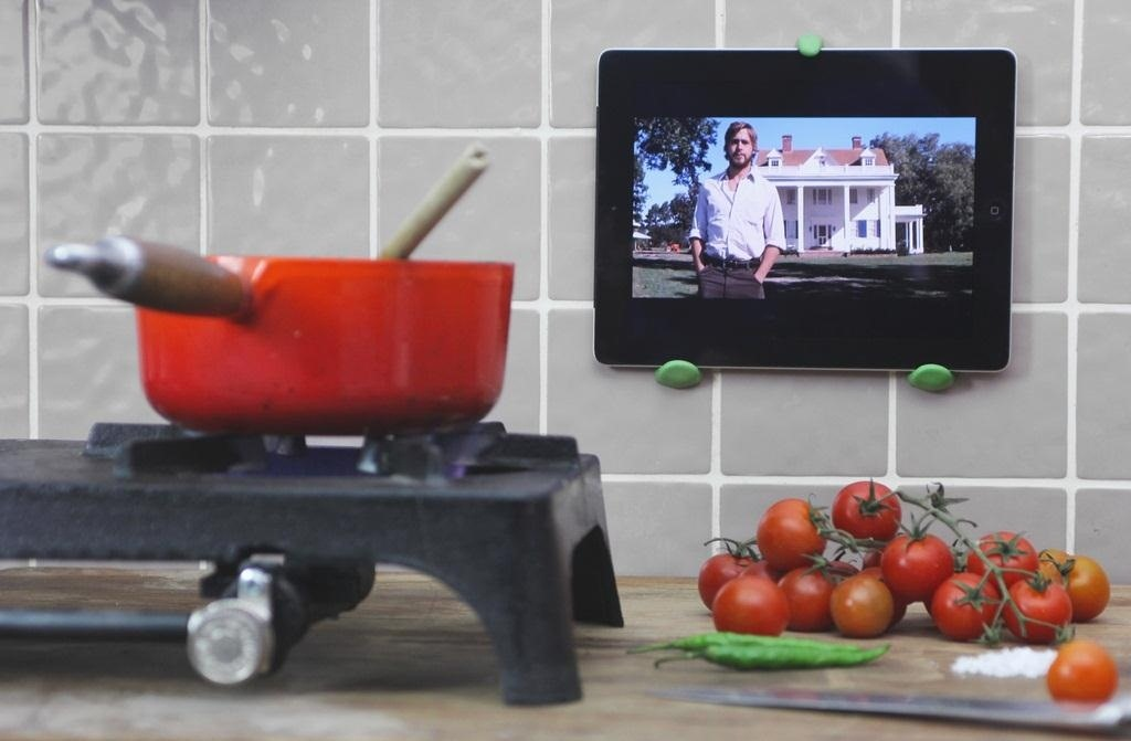 Keep Your Tablet Safe from Kitchen Disasters with the Simplest Wall Mount Ever
