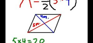 Easily find the area of a rhombus