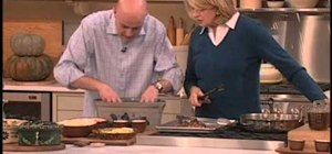 Prepare a hearty three meat stew with Martha Stewart