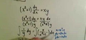 Solve separable first-order differential equations