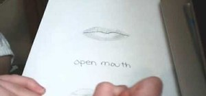 Draw partially open lips