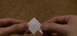 Fold a Heavy Rain-style paper origami bird