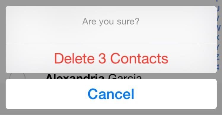 how to delete your contacts on iphone 4