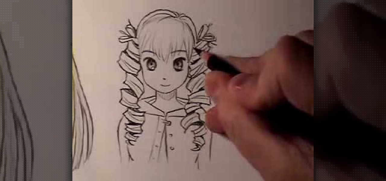 How To Draw Manga Hair Curly Vs Straight 171 Drawing