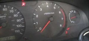 Reset the tachometer on a 2001 Nissan Frontier pick-up truck