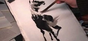 Draw the back view of a horse