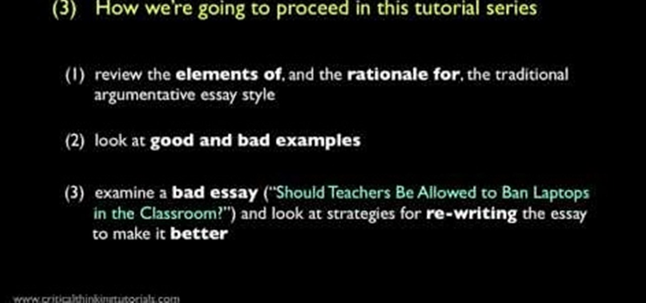 how to write a good argumentative essay introduction Six elements of a good argument writing an argumentative essay structuring an argumentative essay introduction catches the reader's attention.