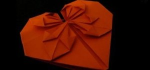 Fold an origami paper Valentine heart