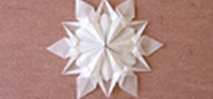 Origami a snowflake designed by Dennis Walker