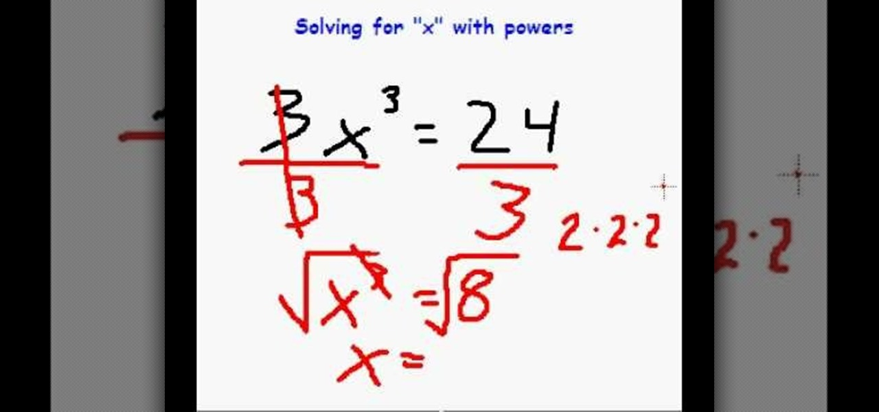 how to solve for x when it is an exponent