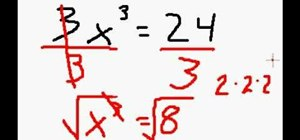 how to solve for x with parentheses