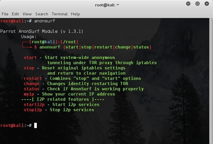 How to Install ParrotSec Sealth and Anonsurf Modules on Kali 2.0