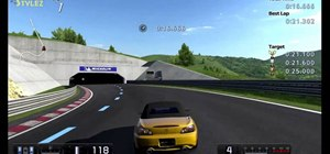 Achieve a gold trophy on the B-8 License Test (S-bends) in Gran Turismo 5
