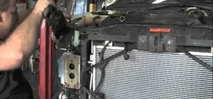 Fix the air conditioning condenser on a Mazda 6