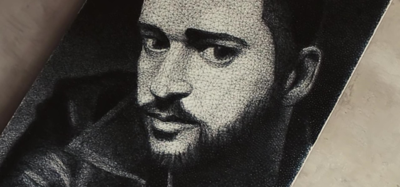Artist Creates Giant Justin Timberlake Portrait with 13,000 Nails & 15 Miles of String