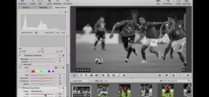 Convert color images to black and white in Aperture