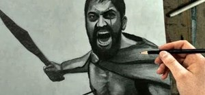 "Draw a pencil sketch of King Leonidas of Sparta from the movie ""300"""