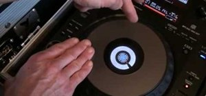 Scratch on the Pioneer CDJ turntable