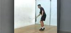 Do a squash forehand horizontal and vertical swing