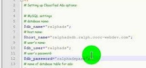 Install a PHP script for classified ads on a website