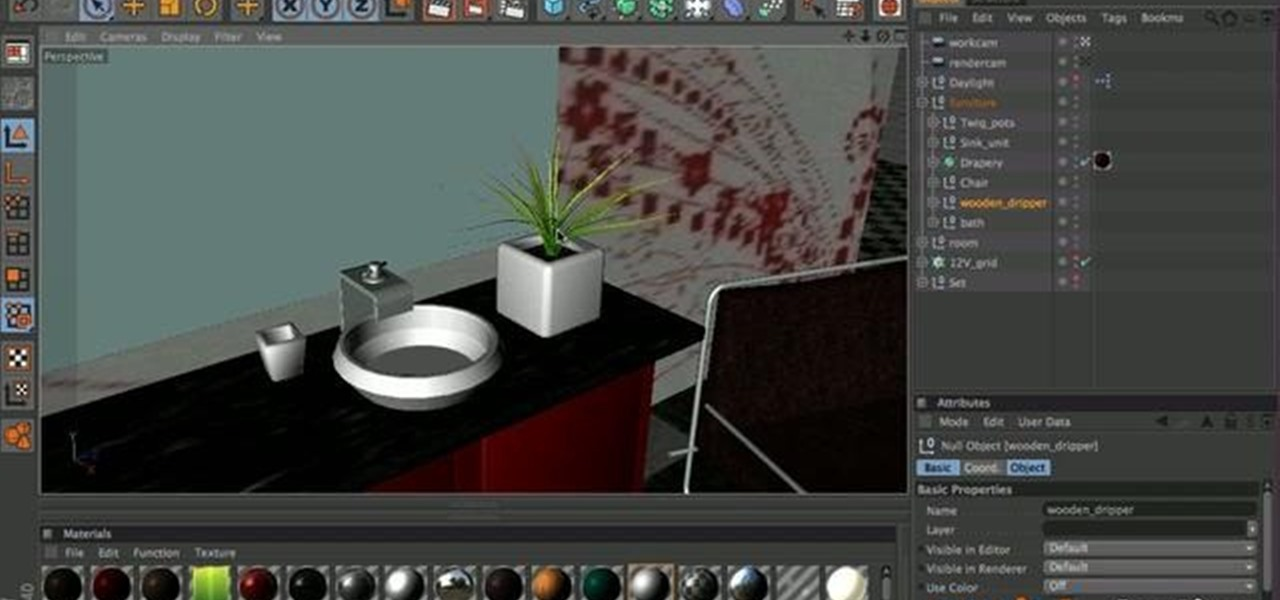 How to Create a 3D model of a bathroom in MAXON Cinema 4D